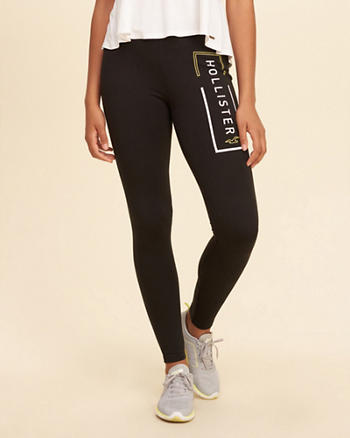 Logo Graphic Jersey Leggings