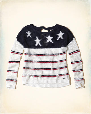 Open Stitch Star Sweater