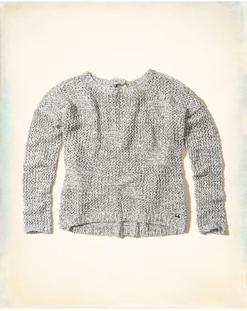 hol Tie-Back Open-Stitch Sweater