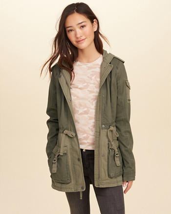 Two-Tone Twill Utility Parka