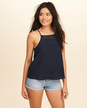 Lace High-Neck Tank