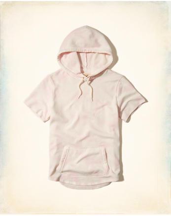hol Short-Sleeve Tie-Dye Hoodie