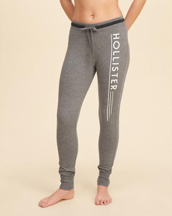Hollister Logo Graphic Fleece Leggings