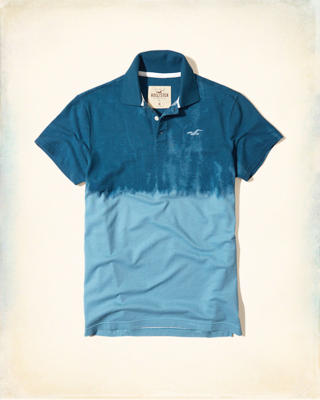 Stretch Patterned Pique Polo