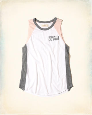 Colorblock Logo Graphic Tank