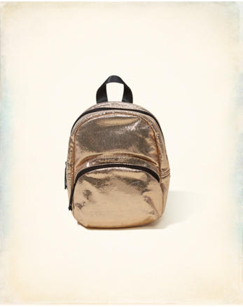 hol Metallic Mini Backpack