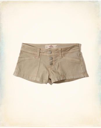 hol Low-Rise Twill Short-Shorts