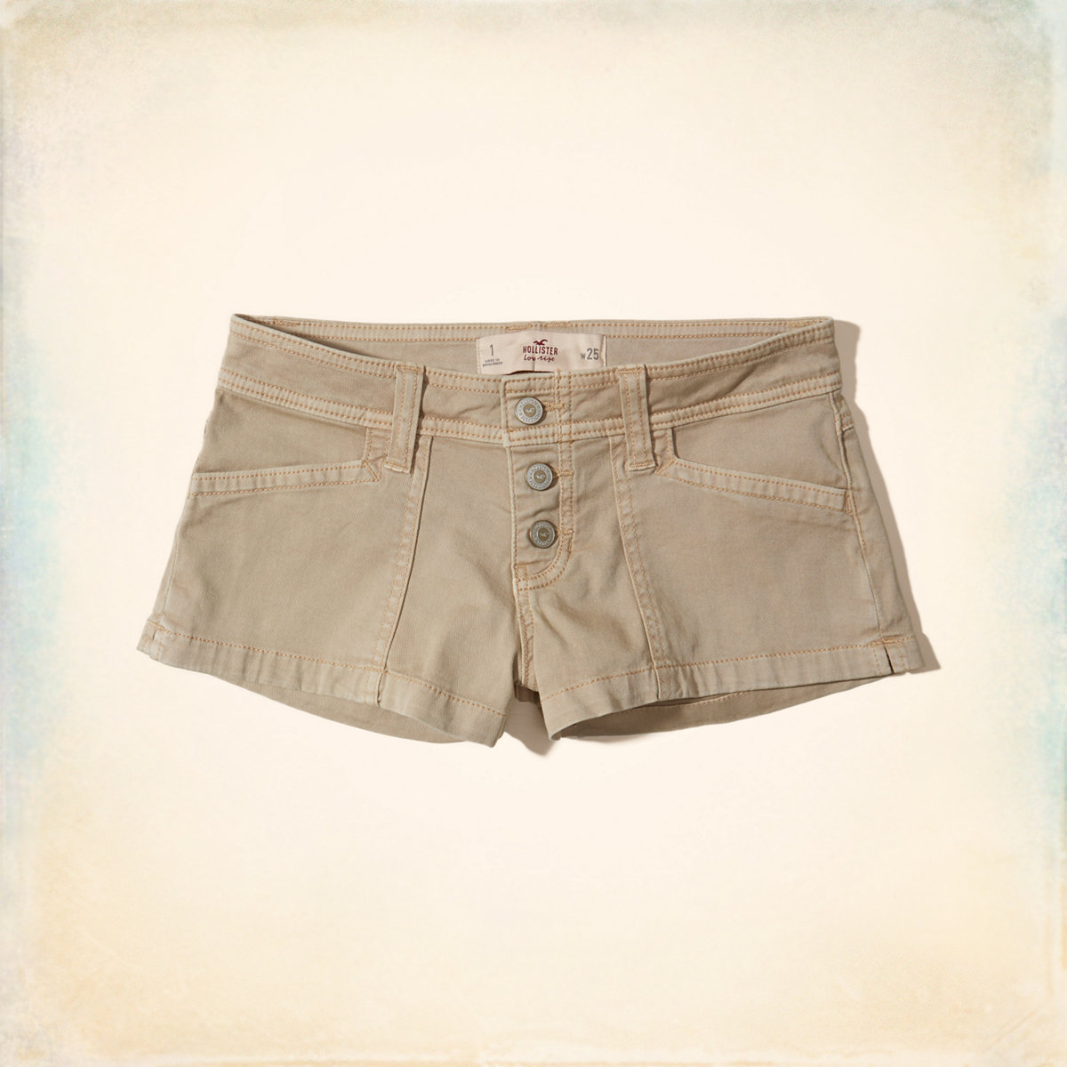Low-Rise Twill Short-Shorts