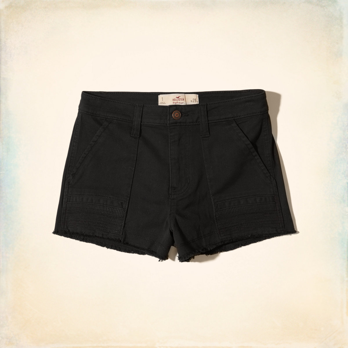High-Rise Twill Short-Shorts
