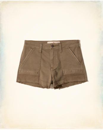 hol High-Rise Twill Short-Shorts