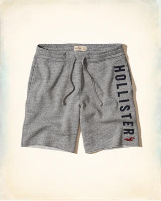 Graphic Fleece Jogger Shorts