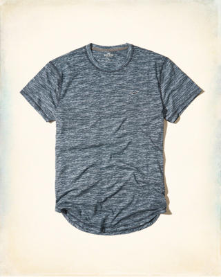 Curved Hem Pocket T-Shirt
