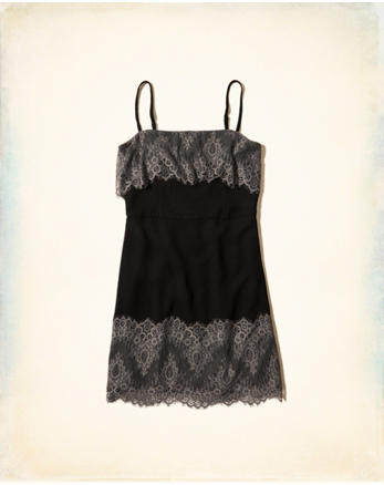 hol Lace Overlay A-Line Dress