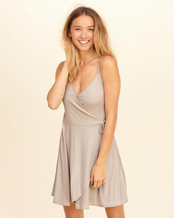 Shine Wrap Dress