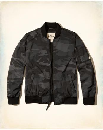 hol Camo Nylon Bomber Jacket