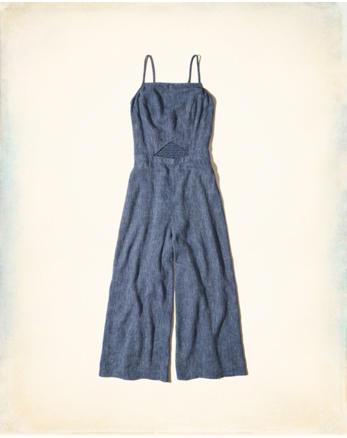 hol Linen Culotte Jumpsuit