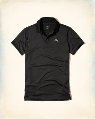 Stretch Textured Jersey Polo