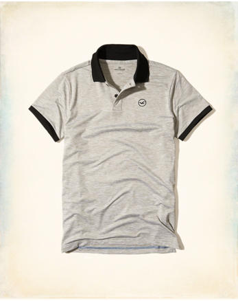 hol Stretch Textured Jersey Polo