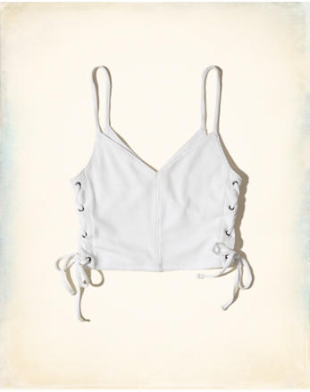 hol Lace-Up Crop Top
