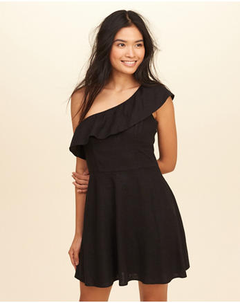 hol Ruffle One-Shoulder Dress