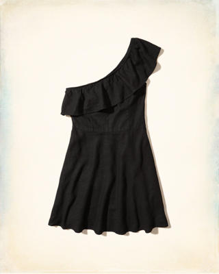 Ruffle One-Shoulder Dress