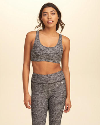 Strappy Back Scoop Sports Bra
