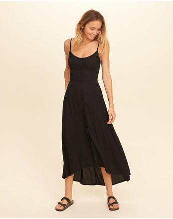 hol Button-Front Maxi Dress