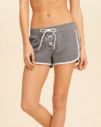 Lace-Up Terry Shorts