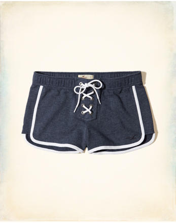 hol Lace-Up Terry Shorts