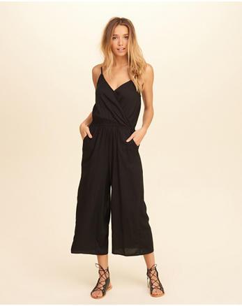 hol Wrap Front Culotte Jumpsuit