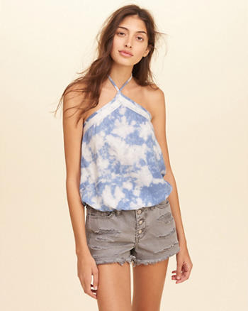 High-Neck Halter Top