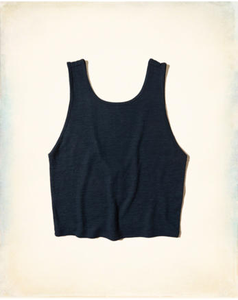hol Cropped Scoop Back Tank