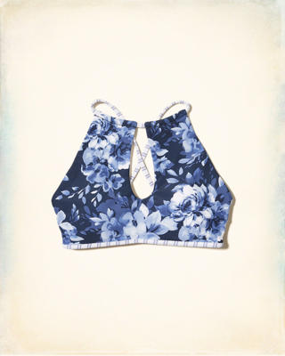 Reversible High-Neck Bikini Top