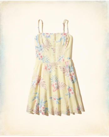 hol Button-Front Skater Dress