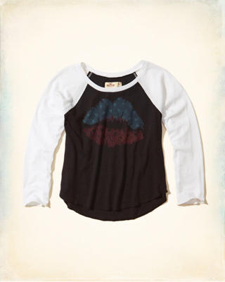 Crop Raglan Graphic Tee