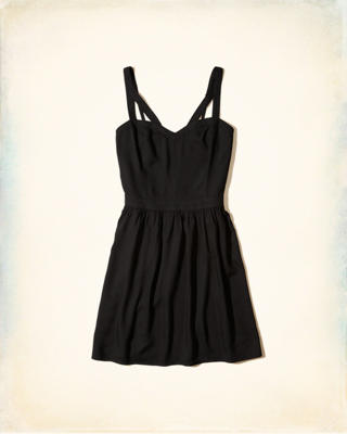 Strappy Rayon Skater Dress