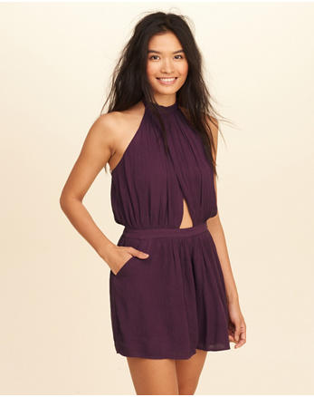 hol Wrap High-Neck Romper