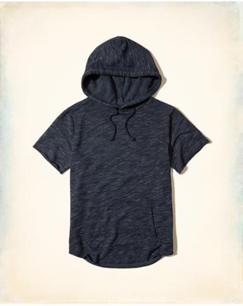 hol Textured Short-Sleeve Hoodie
