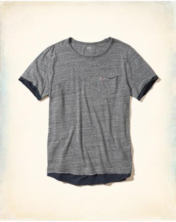 hol Layered Distressed Pocket T-Shirt