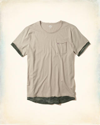 Layered Distressed Pocket T-Shirt