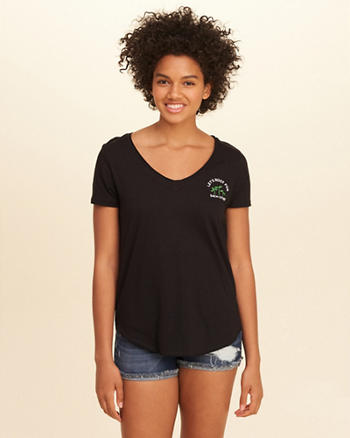 Earth Day V-Neck Easy Graphic Tee