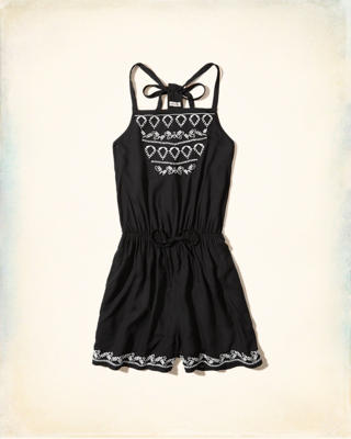 T-Back High-Neck Romper