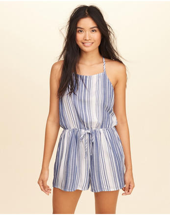 hol T-Back High-Neck Romper