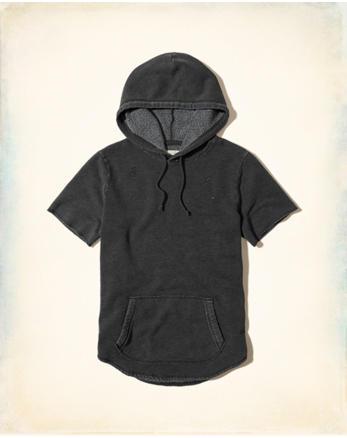 hol Short-Sleeve Ripped Hoodie