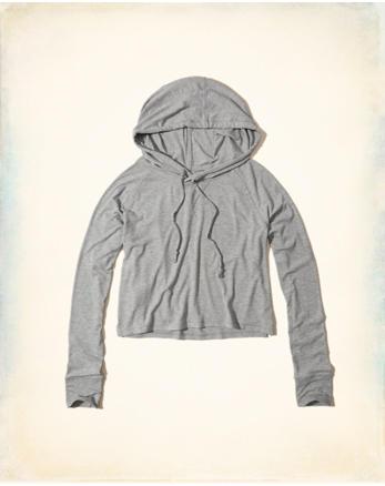 hol Hooded Crop T-Shirt