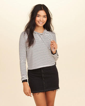 Hooded Crop T-Shirt