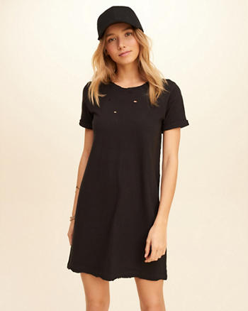 Distressed T-Shirt Dress