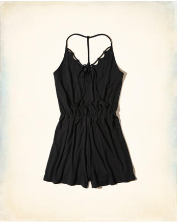 hol Tie-Front Knit Romper