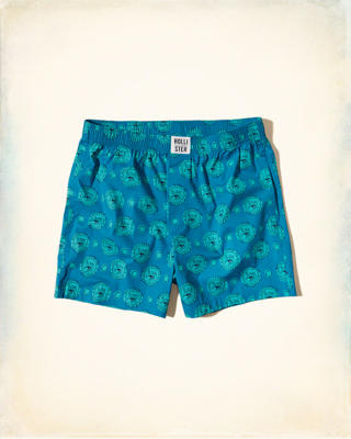Hollister Patterned Woven Boxer
