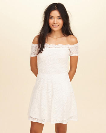 Off-The-Shoulder Lace Dress